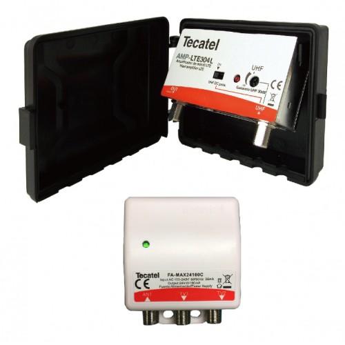 ΕΝΙΣΧΥΤΗΣ ΙΣΤΟΥ UHF 30db 5G LTE TECATEL (AMP-MAX-LTE304L-5G)